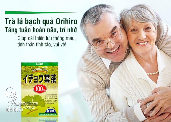 Trà lá bạch quả Orihiro 26 túi lọc - Tăng tuần hoàn não, trí nhớ 9