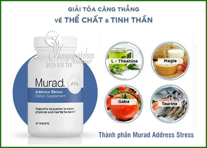Viên giảm căng thẳng Murad Address Stress 60 viên của Mỹ 1