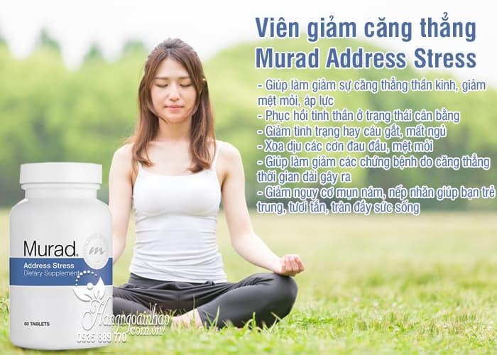 Viên giảm căng thẳng Murad Address Stress 60 viên của Mỹ 3