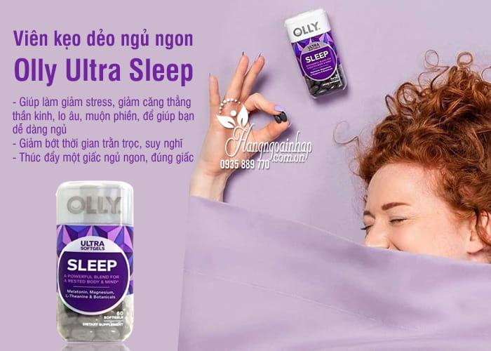 Viên kẹo dẻo ngủ ngon Olly Ultra Sleep 60 viên chính hãng Mỹ 5