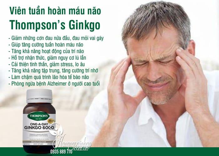 Viên tuần hoàn máu não Thompson's Ginkgo 6000mg 60 viên 3