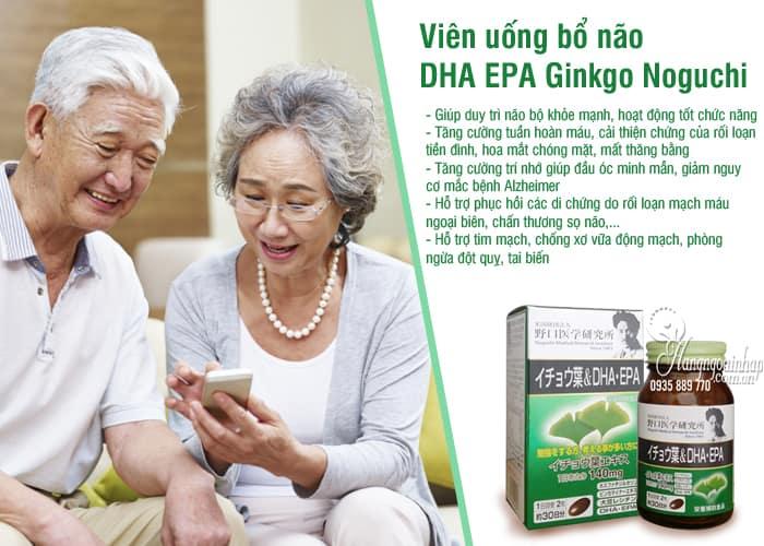 Viên uống bổ não DHA EPA Ginkgo Noguchi 60 viên của Nhật Bản 3