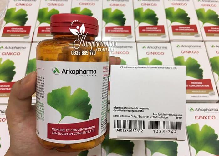 Viên uống bổ não, tăng cường trí nhớ Ginkgo Arkopharma 150v 1