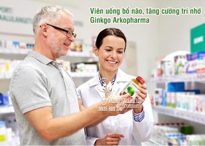 Viên uống bổ não, tăng cường trí nhớ Ginkgo Arkopharma 150v 6