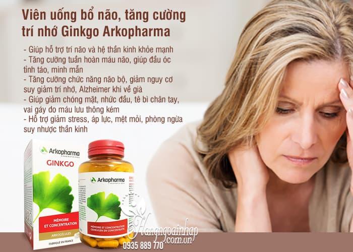 Viên uống bổ não, tăng cường trí nhớ Ginkgo Arkopharma 150v 4