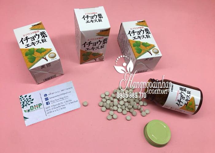 Viên uống bổ não Orihiro Ginkgo Biloba 240 viên Nhật Bản 7