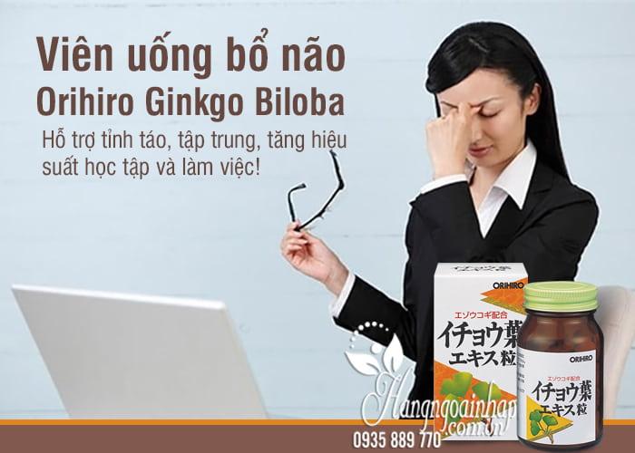 Viên uống bổ não Orihiro Ginkgo Biloba 240 viên Nhật Bản 1