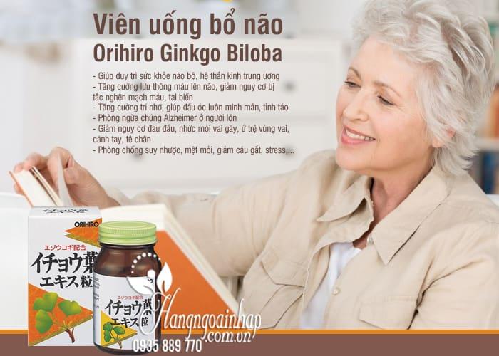 Viên uống bổ não Orihiro Ginkgo Biloba 240 viên Nhật Bản 2