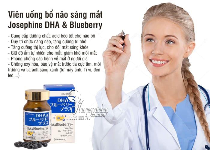 Viên uống bổ não sáng mắt Josephine DHA & Blueberry 90 viên 9