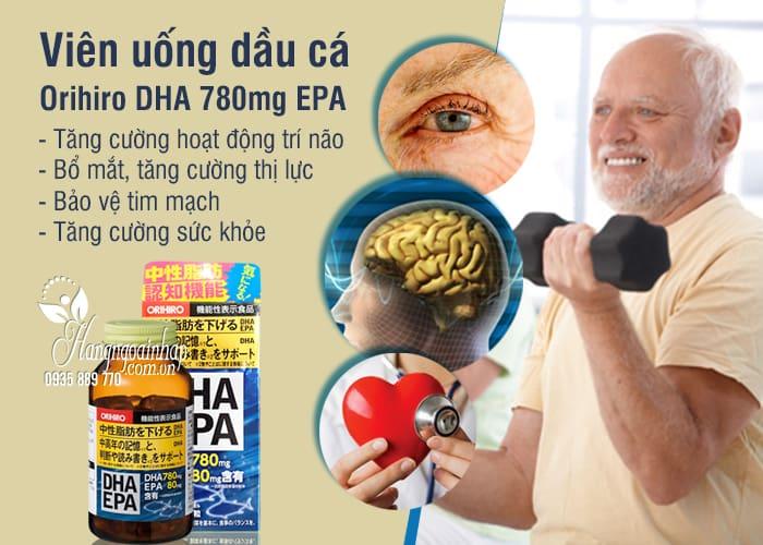 Viên uống dầu cá Orihiro DHA 780mg EPA 80mg mới 2020 2