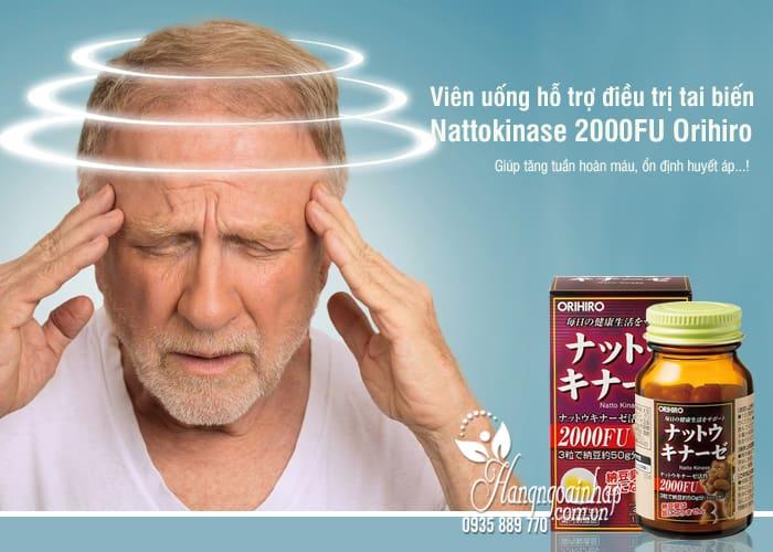 Viên uống hỗ trợ điều trị tai biến Nattokinase 2000FU Orihiro Nhật 1