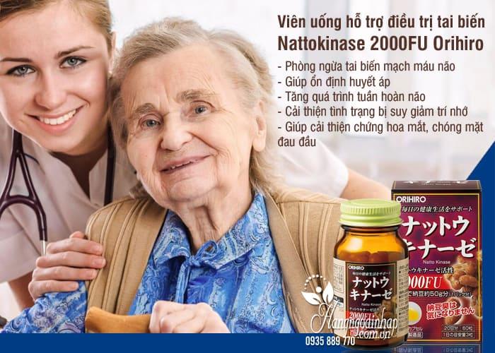 Viên uống hỗ trợ điều trị tai biến Nattokinase 2000FU Orihiro Nhật 3