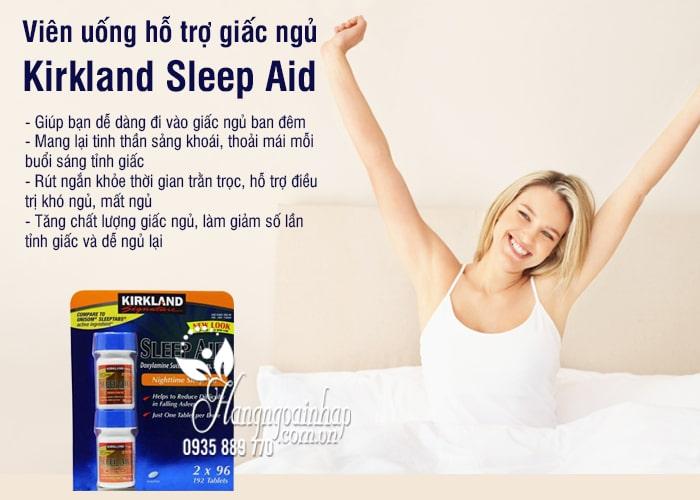 Viên uống hỗ trợ giấc ngủ Kirkland Sleep Aid 25mg 192 viên 5