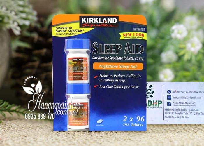 Viên uống hỗ trợ giấc ngủ Kirkland Sleep Aid 25mg 192 viên 2