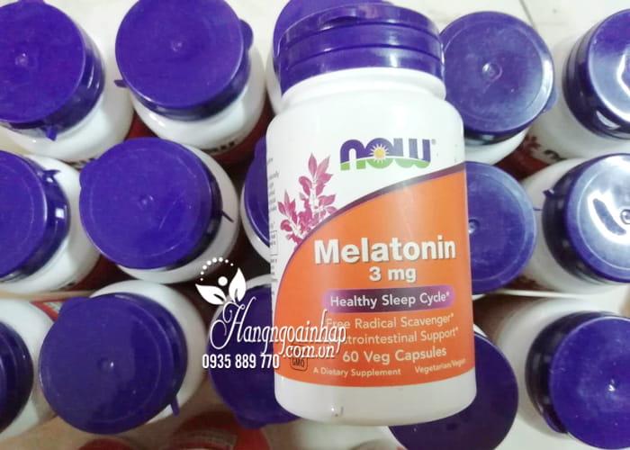Viên uống hỗ trợ giấc ngủ Melatonin 3mg Now 60 viên của Mỹ 1