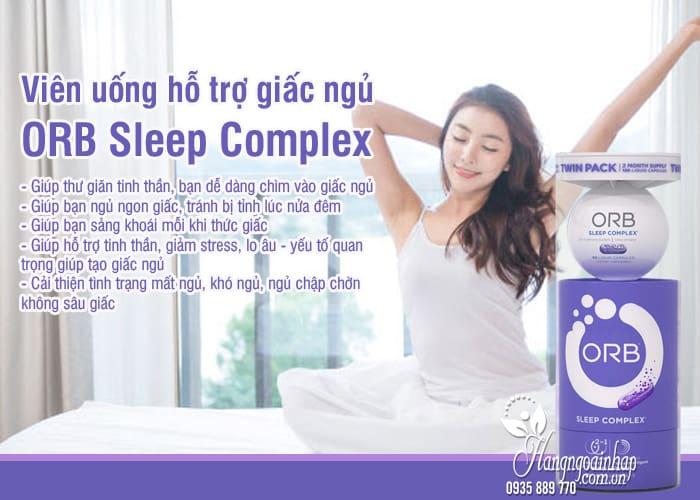 Viên uống hỗ trợ giấc ngủ ORB Sleep Complex chính hãng Mỹ 6
