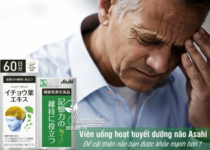 Viên uống hoạt huyết dưỡng não Asahi Nhật Bản 180 viên 2