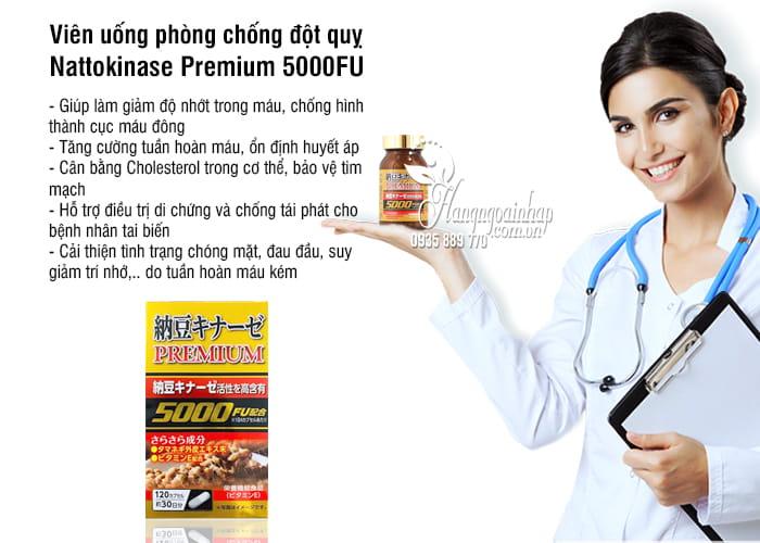 Viên uống phòng chống đột quỵ Nattokinase Premium 5000FU 8