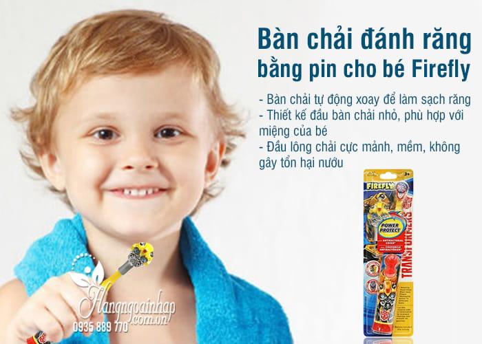 Bàn chải đánh răng bằng pin cho bé Firefly của Mỹ 3