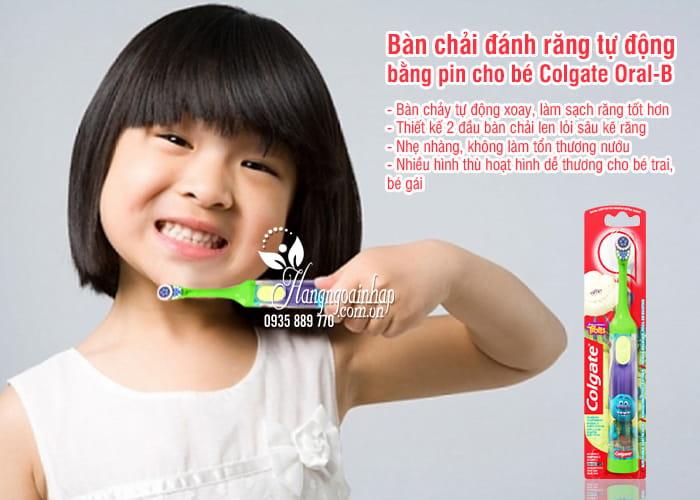 Bàn chải đánh răng tự động chạy bằng pin cho bé Colgate Oral B 2