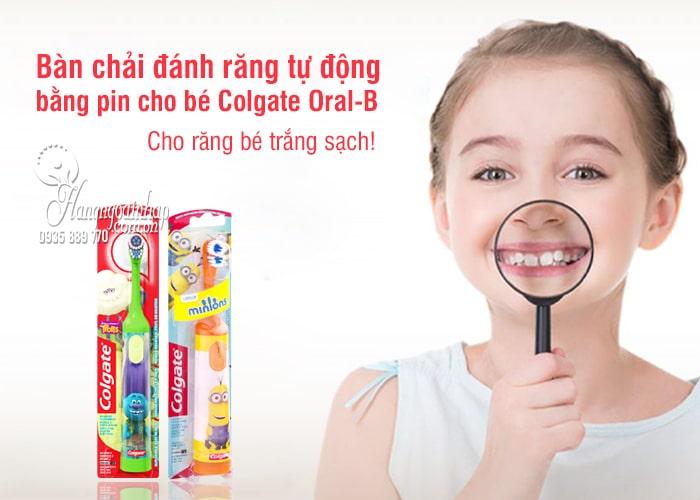 Bàn chải đánh răng tự động chạy bằng pin cho bé Colgate Oral B 1