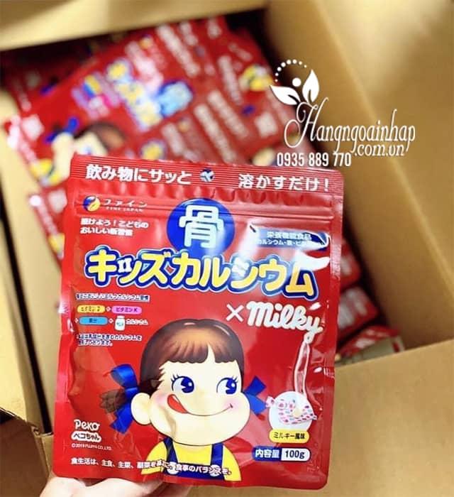 Bột canxi cá tuyết Milky Nhật Bản mẫu mới nhất màu đỏ 5