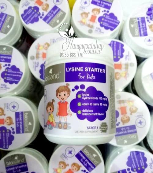 Bột tăng chiều cao cho bé dưới 6 tuổi Bio Island Lysine Starter của Úc 7