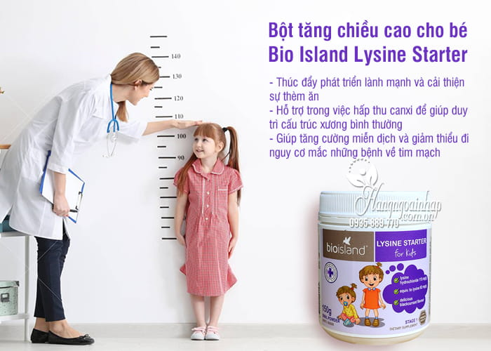 Bột tăng chiều cao cho bé dưới 6 tuổi Bio Island Lysine Starter của Úc 3