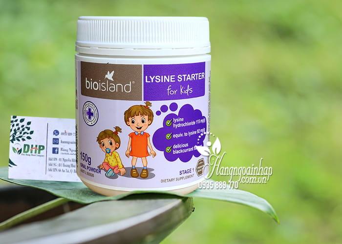 Bột tăng chiều cao cho bé dưới 6 tuổi Bio Island Lysine Starter của Úc 12