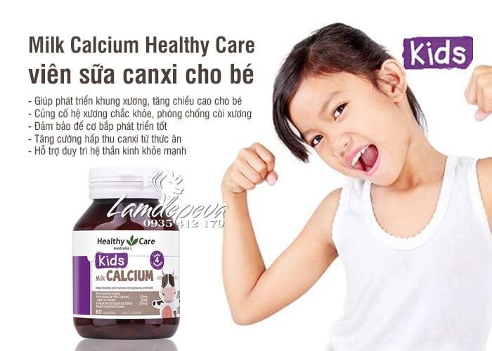 Milk Calcium Healthy Care 60 viên Úc, viên sữa canxi cho bé 7