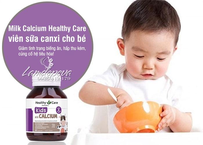 Milk Calcium Healthy Care 60 viên Úc, viên sữa canxi cho bé 1