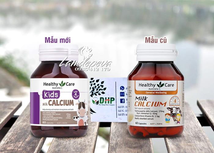 Milk Calcium Healthy Care 60 viên Úc, viên sữa canxi cho bé 0
