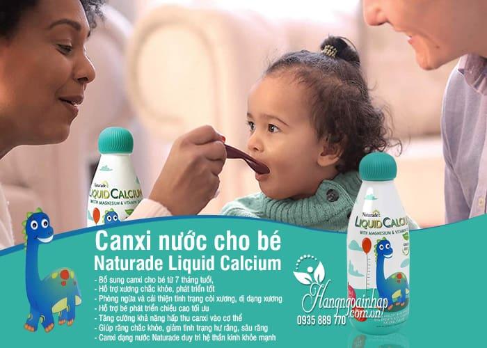 Canxi nước cho bé Naturade Liquid Calcium 474ml chính hãng Mỹ 4