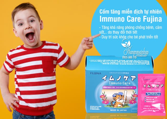 Cốm tăng miễn dịch tự nhiên Immuno Care Fujina 15 gói x 2g 2