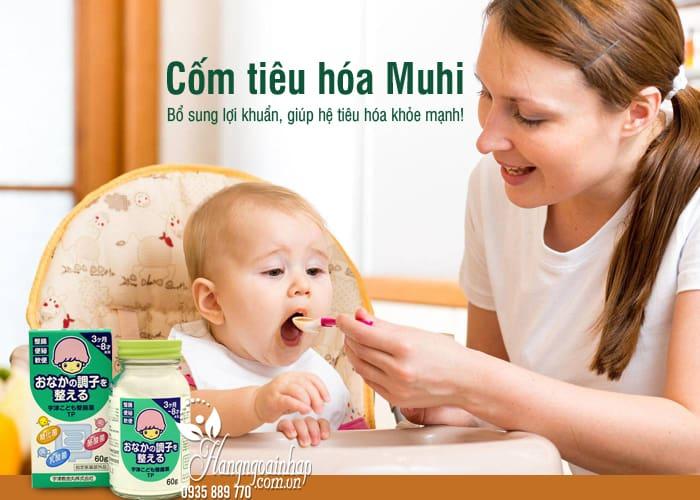 Cốm tiêu hóa Muhi Nhật Bản cho trẻ em hộp 60g trị táo bón 9