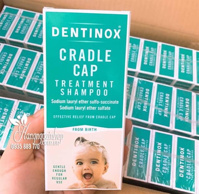 Dầu gội trị cứt trâu cho bé sơ sinh Dentinox 125ml Anh Quốc 1