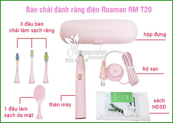 Bàn chải đánh răng điện Roaman RM T20 Nhật Bản màu hồng 3