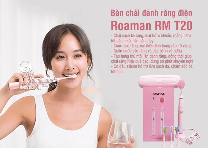 Bàn chải đánh răng điện Roaman RM T20 Nhật Bản màu hồng 5