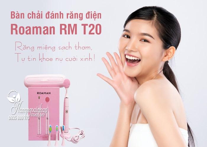 Bàn chải đánh răng điện Roaman RM T20 Nhật Bản màu hồng 1