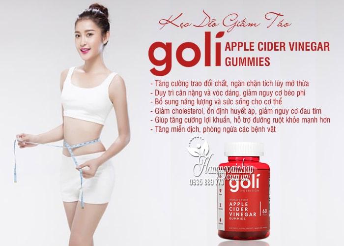 Kẹo dẻo giấm táo Goli Apple Cider Vinegar Gummies 60 viên 5