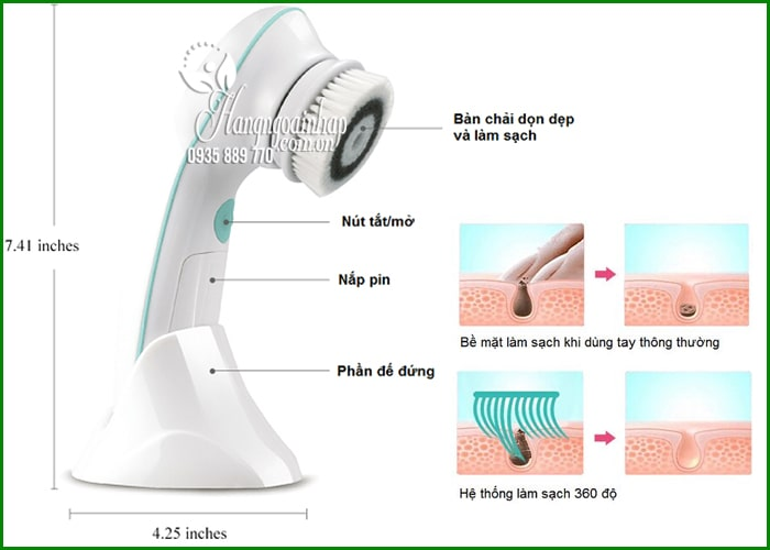 Máy rửa mặt và massage 3 in 1 TouchBeauty TB0759A giá tốt 9