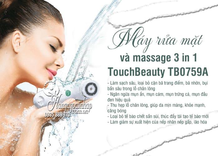 Máy rửa mặt và massage 3 in 1 TouchBeauty TB0759A giá tốt 7