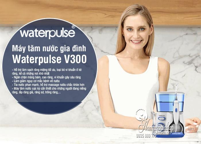 Máy tăm nước gia đình Waterpulse V300 bảo vệ răng nướu 8
