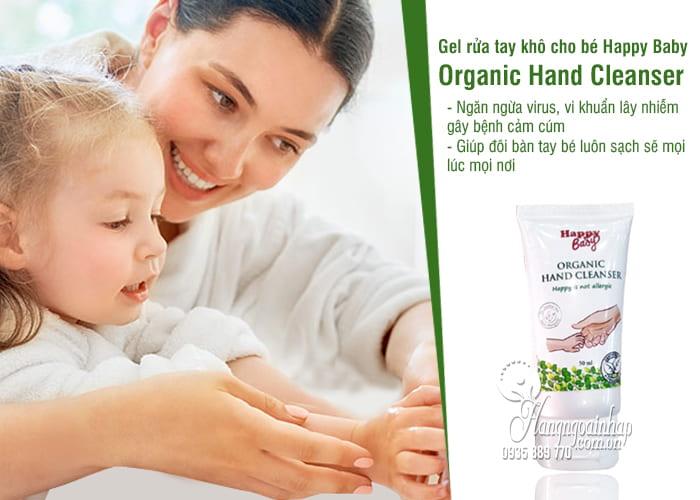 Gel rửa tay khô cho bé Happy Baby Organic Hand Cleanser 50ml 2