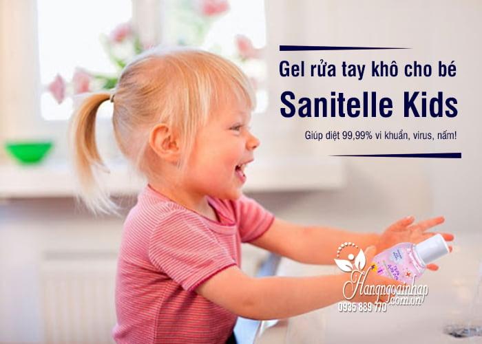 Gel rửa tay khô cho bé Sanitelle Kids 60ml của Nga 2