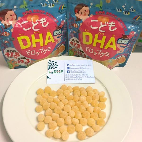 Kẹo bổ sung DHA cho bé DHA Drop Gummy của Nhật Bản 2