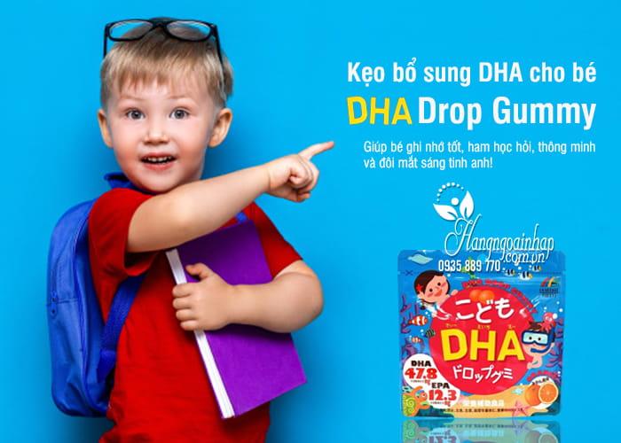 Kẹo bổ sung DHA cho bé DHA Drop Gummy của Nhật Bản 3