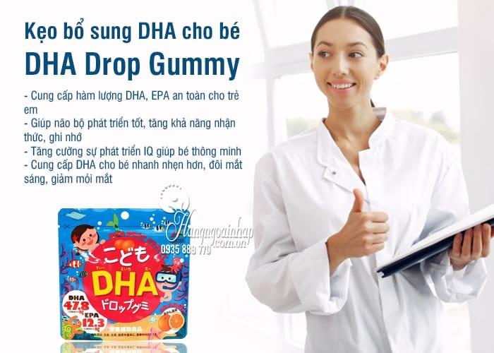 Kẹo bổ sung DHA cho bé DHA Drop Gummy của Nhật Bản 8