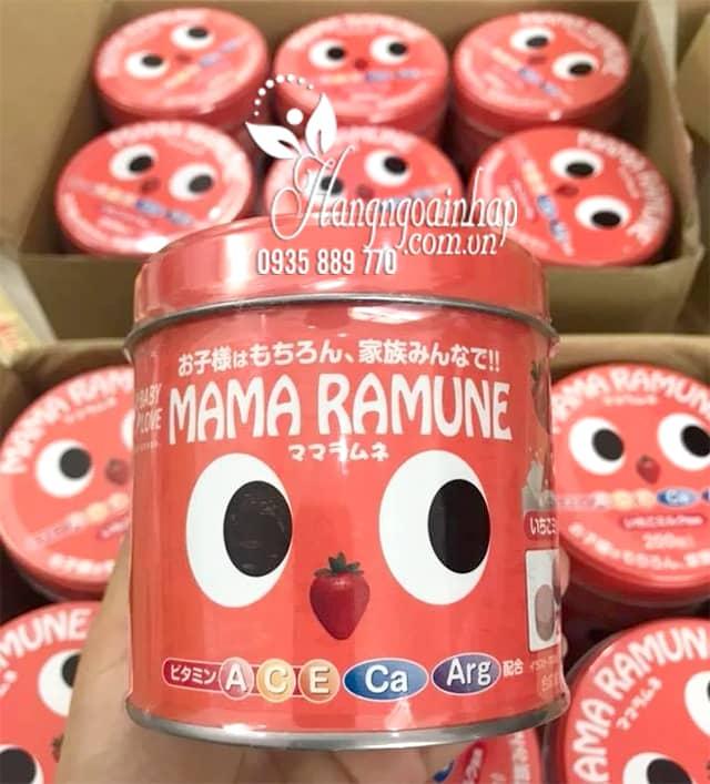Kẹo cho trẻ biếng ăn Mama Ramune của Nhật Bản 200 viên 9