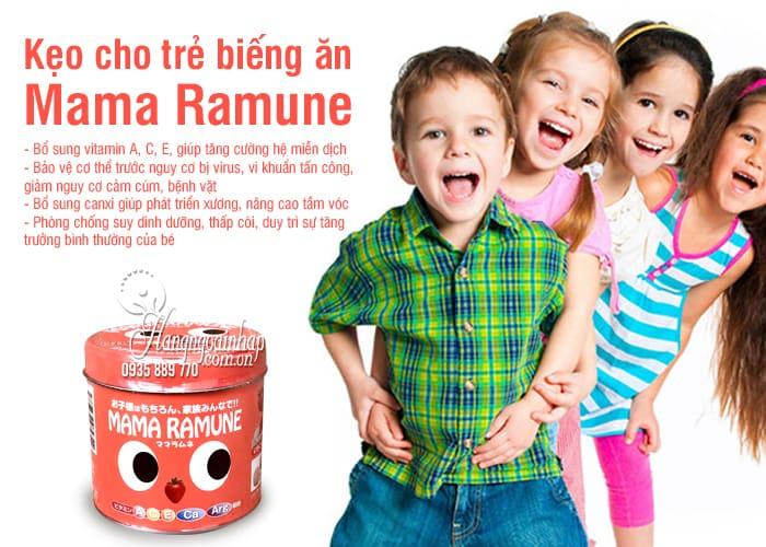 Kẹo cho trẻ biếng ăn Mama Ramune của Nhật Bản 200 viên 8